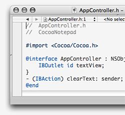 Creare una nuova classe: Interfaccia in Obj-C