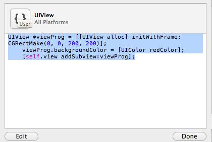 "I ""code snippets"" trucchi di Xcode"