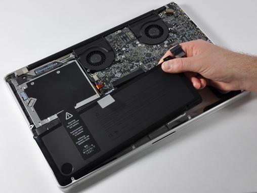 completamente batteria macbook