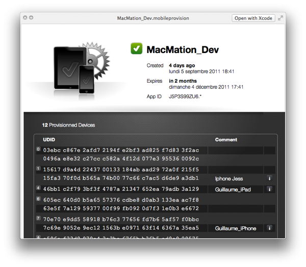 quicklook mobileprovisioning